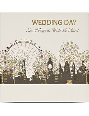 FIVE DOLLAR SHAKE London wedding day greetings card