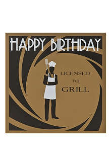 FIVE DOLLAR SHAKE Licensed To Grill birthday card