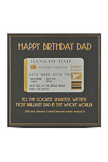 FIVE DOLLAR SHAKE Happy birthday dad card