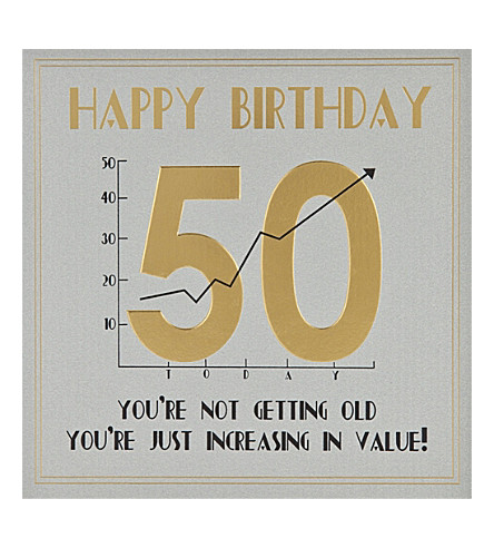 FIVE DOLLAR SHAKE 50th Birthday card