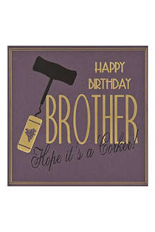 FIVE DOLLAR SHAKE Brother birthday card