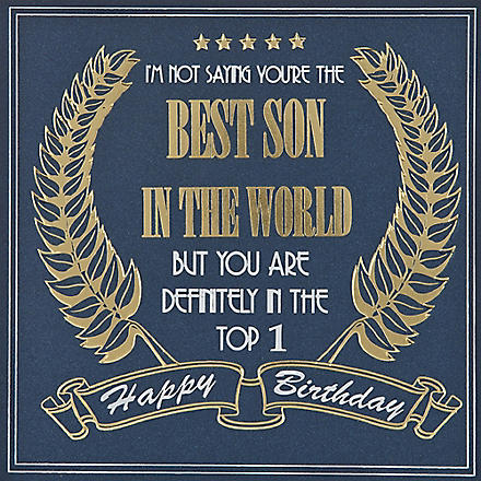 FIVE DOLLAR SHAKE Best Son In The World birthday card