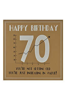 FIVE DOLLAR SHAKE 70th Birthday card