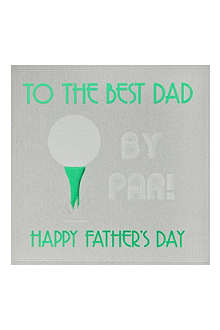 FIVE DOLLAR SHAKE Best Dad By Par Father's Day card