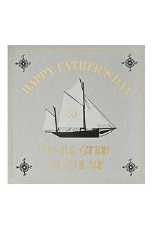 FIVE DOLLAR SHAKE Captain Of Our Ship Father's Day card