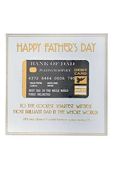 FIVE DOLLAR SHAKE Bank Of Dad Father's Day card