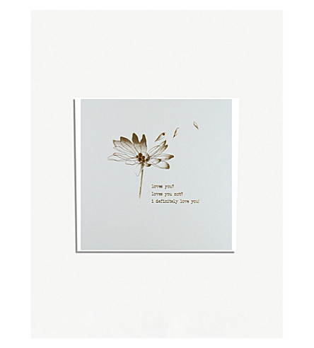 FIVE DOLLAR SHAKE Forget Me Not Valentines day card
