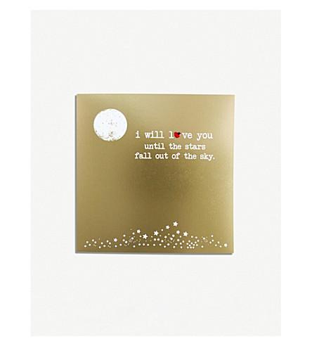 FIVE DOLLAR SHAKE Stars Valentines Day card