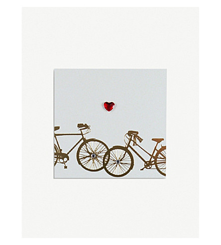 FIVE DOLLAR SHAKE Gold foil Valentines day card