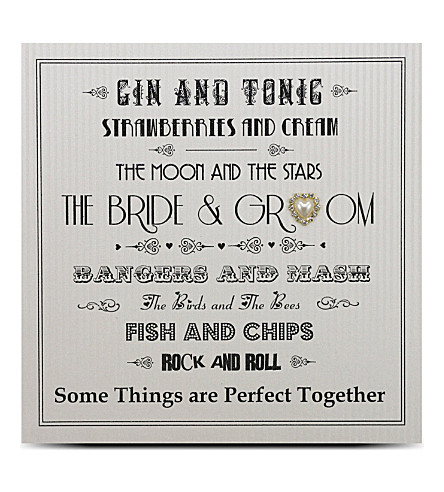 FIVE DOLLAR SHAKE Bride and groom engagement greeting card