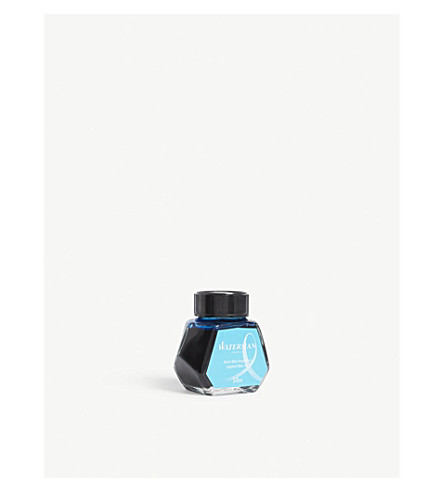 WATERMAN Inspired Blue fountain pen ink bottle 50ml