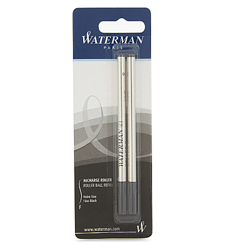 WATERMAN Pack of two rollerball pen refills
