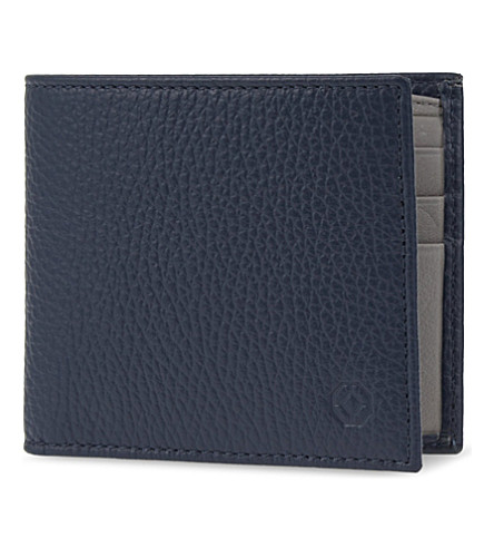 MONTEGRAPPA Grained leather wallet