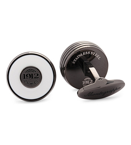 MONTEGRAPPA Piacere steel inlay cufflinks