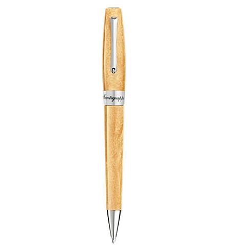 MONTEGRAPPA Felictà caramel gold ballpoint pen