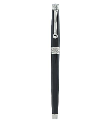 MONTEGRAPPA Piacere jet black rollerball pen