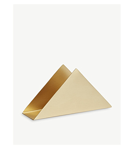 FERM LIVING Triangle brass newspaper stand 8cm