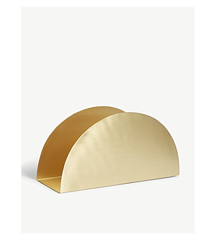 FERM LIVING Semi-circle brass stand 15cm