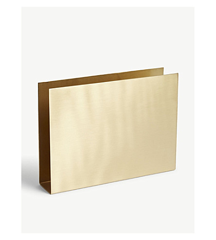 FERM LIVING Brass wall square 15cm