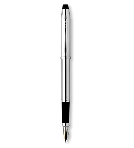 CROSS 世纪 II 光泽的铬钢笔 (铬