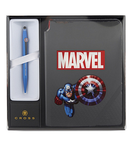 CROSS Captain america pen and notebook set