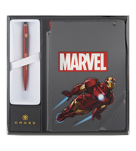CROSS Iron man ballpoint pen and notebook set