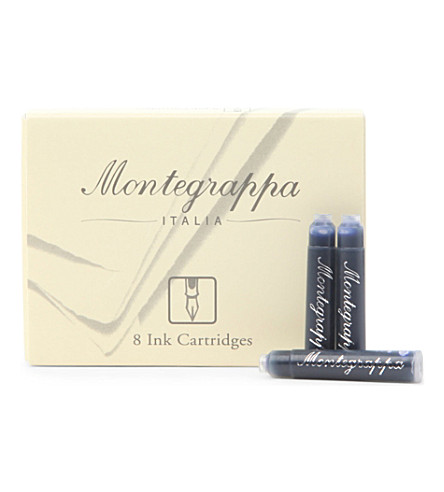 MONTEGRAPPA Box of eight blue refill cartridges