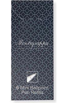 MONTEGRAPPA Pack of six Mini black ballpoint pen refills