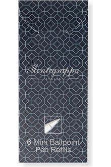 MONTEGRAPPA Pack of six Mini blue ballpoint pen refills