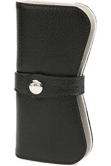 MONTEGRAPPA Leather double pen pouch
