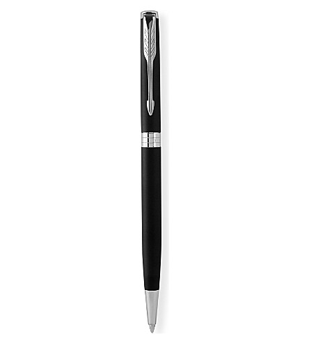 PARKER Sonnet Slim matt black palladium trim ballpoint pen