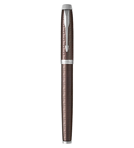 PARKER IM Premium satin-finish rollerball pen