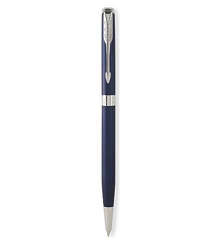 PARKER Sonnet slim blue lacquer palladium trim ballpoint pen