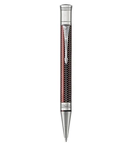 PARKER Duofold Prestige chevron ballpoint pen