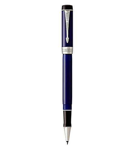 PARKER Duofold Classic silver-plated ballpoint pen