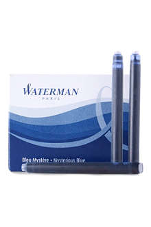 WATERMAN Blister pack of eight standard large fountain pen cartridges