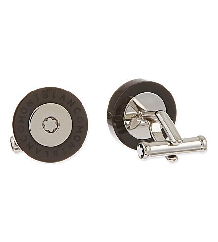 MONTBLANC Round steel cufflinks