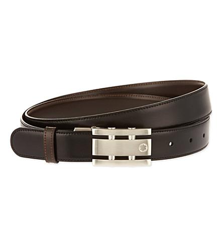 montblanc reversible leather belt selfridges