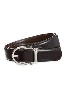 MONTBLANC Reversible oval buckle leather belt