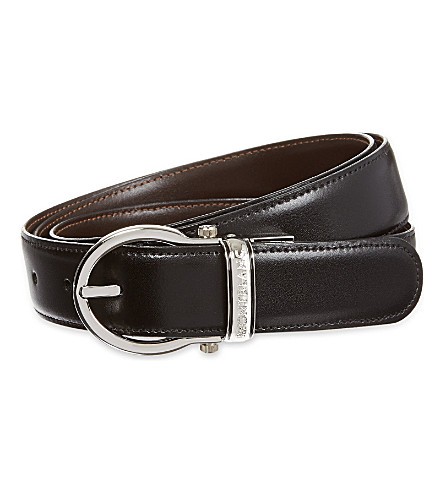 Reversible leather belt(105123)