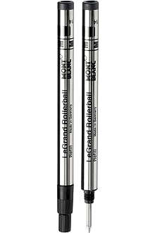 MONTBLANC Pack of two Rollerball LeGrand pen refills (M) Mystery Black
