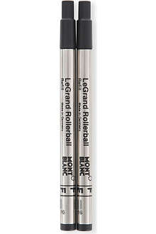 MONTBLANC Pack of two Rollerball LeGrand pen refills (F) Mystery Black
