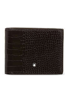 MONTBLANC Leather wallet and card holder set
