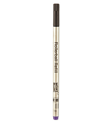 MONTBLANC Medium amethyst purple rollerball refills