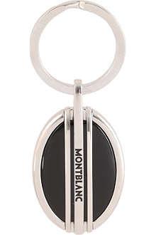 MONTBLANC Black onyx keyring