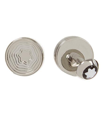 MONTBLANC Round steel ripple cufflinks