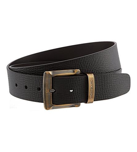 montblanc buckled leather belt selfridges