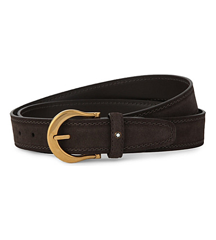 MONTBLANC Buckled leather belt