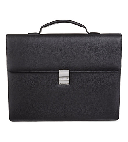 MONTBLANC Meisterstück leather single gusset briefcase