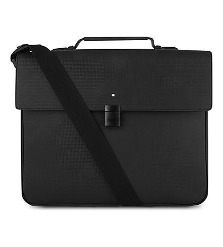MONTBLANC Westside Extreme single-gusset briefcase (Black